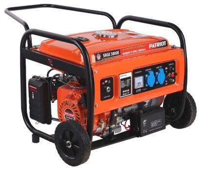 Купить Бензиновый генератор PATRIOT SRGE 3800 E цена 11650 руб Москва