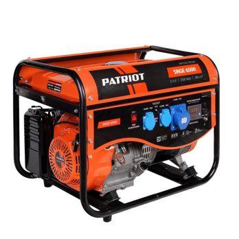 Купить Бензиновый генератор PATRIOT SRGE 6500 цена 20500 руб Москва