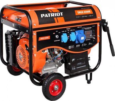 Купить Бензиновый генератор PATRIOT SRGE 6500 E цена 23600 руб Москва