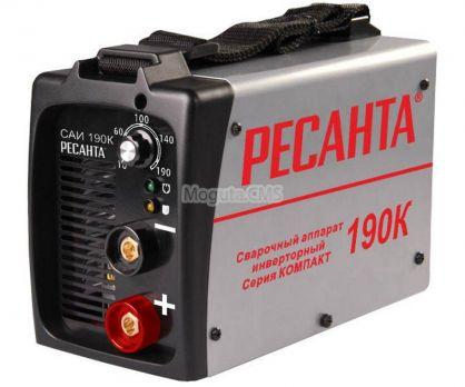 Сварочный инвертор Ресанта САИ 190 К цена 4500 руб