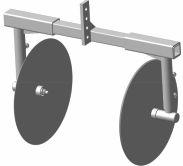 Окучник дисковый без сцепки ТИП.4 (раздвижной, на подшипниках) Целина 10415