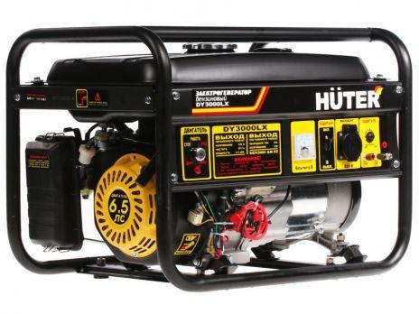 Бензиновый генератор Huter DY 3000 LX цена 11600 руб Москва